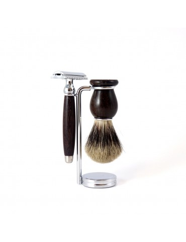 3-part Set Security Razor / Rose Wood
