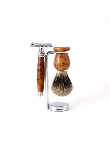 3-part Set Security Razor / Thuja Wood