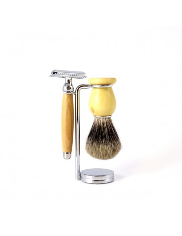 3-part Set Security Razor / Boxwood