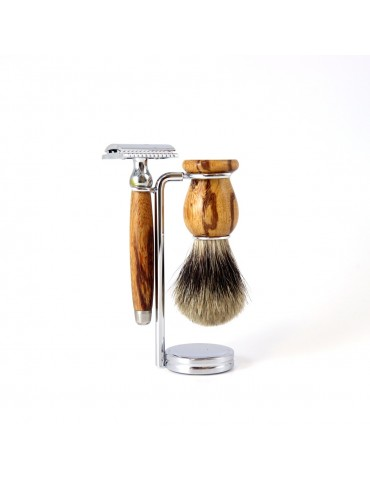 3-part Set Security Razor / Snakewood