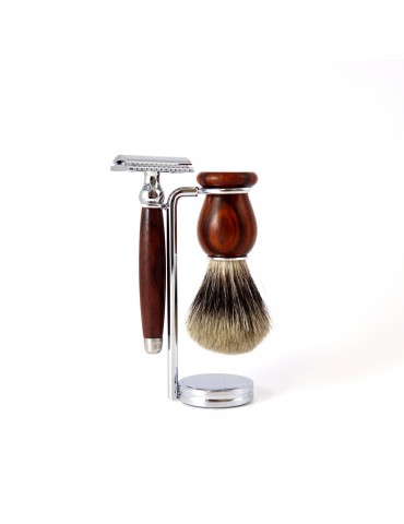 3-part Set Security Razor / Cocobolo