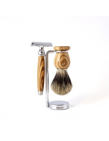 3-part Set Security Razor / Zebrawood