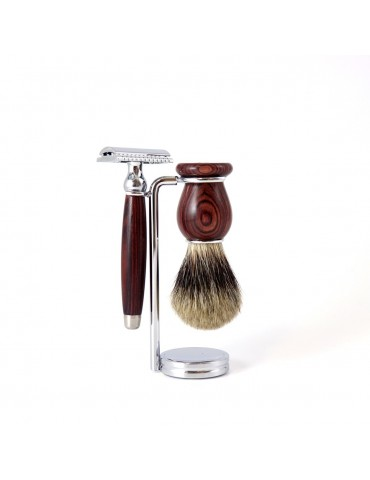 3-part Set Security Razor / Purple Wood