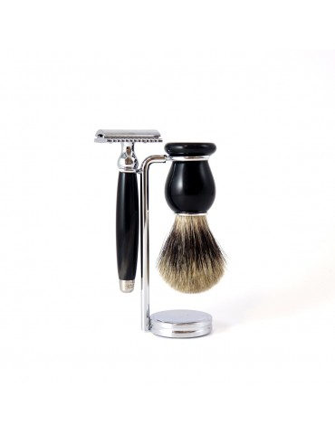 3-part Set Security Razor / Black Horn