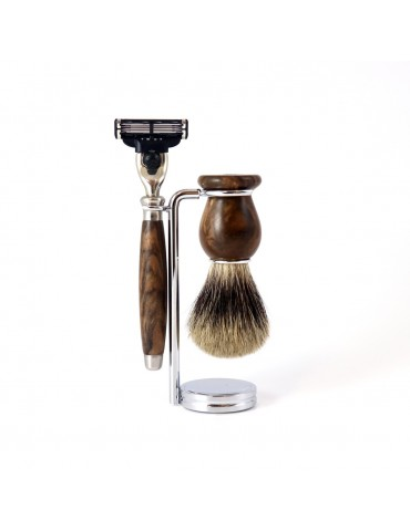 3-part Set Mach3® Razor / Burr Walnut