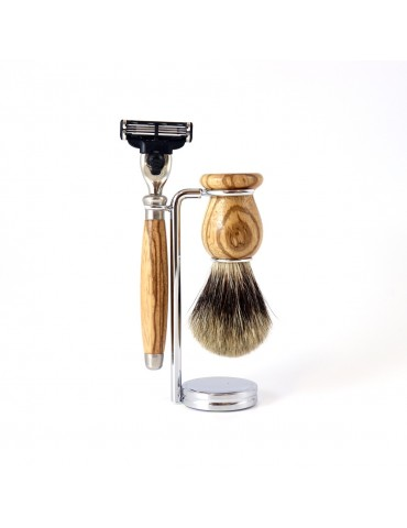 3-part Set Mach3® Razor / Zebrawood