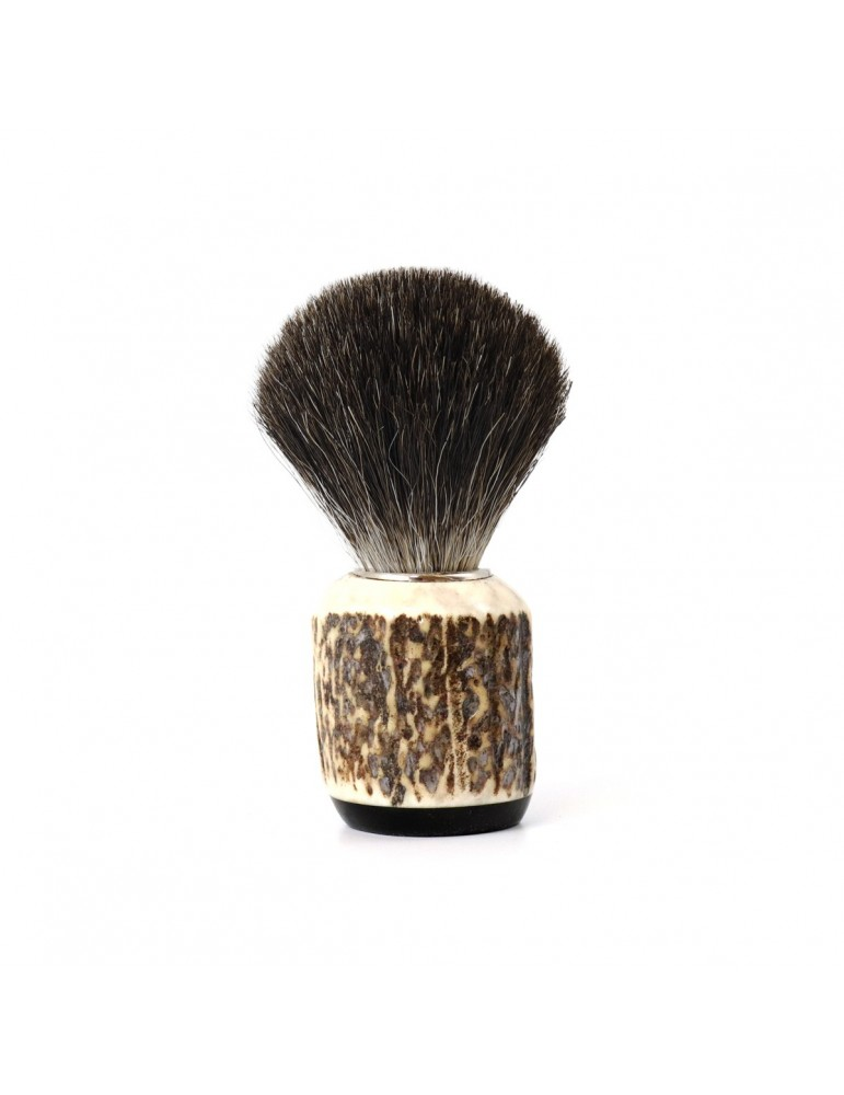 Shaving Brush / Deer Antler / Grey