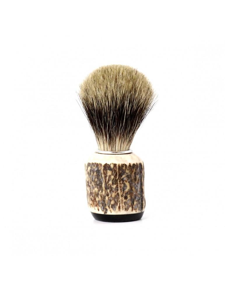 Shaving Brush / Deer Antler / Pure Badger