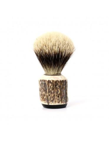Shaving Brush / Deer Antler / White European