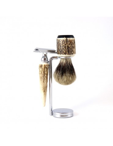 3-part Set Security Razor / Deer Antler