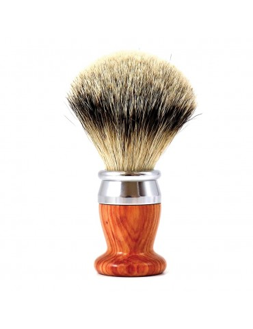 Shaving Brush / Pink Wood / Interchangeable Head
