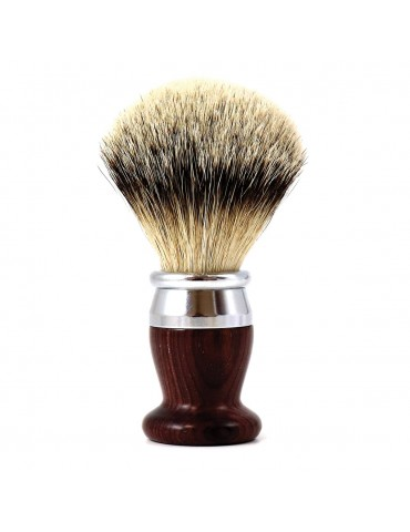 Shaving Brush / Purple Wood / Interchangeable Head