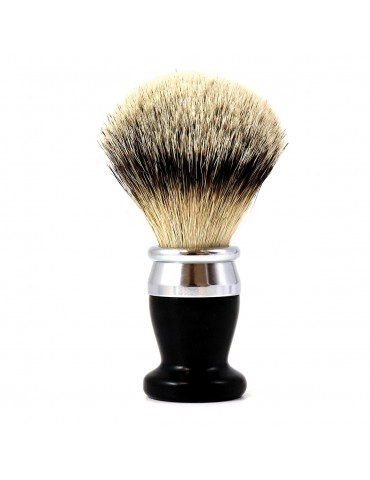 Shaving Brush / Black Horn / Interchangeable Head