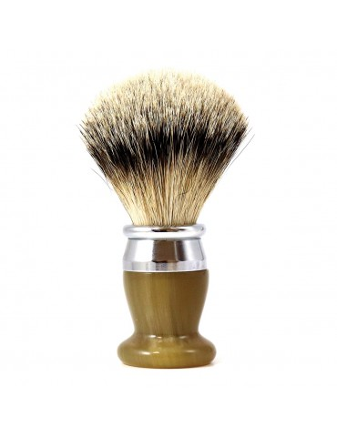 Shaving Brush / Marbled Horn / Interchangeable Head
