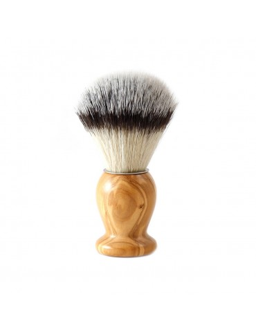 Shaving Brush / Olive Wood / Synthetic Fiber