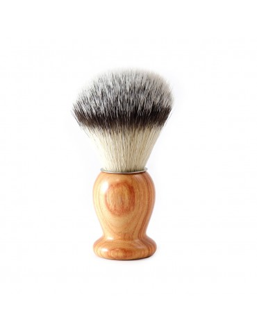 Shaving Brush / Pink Wood / Synthetic Fiber