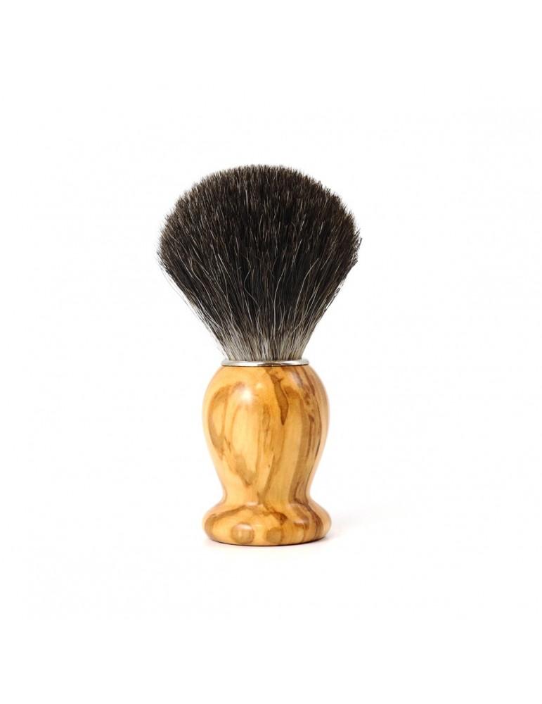Shaving Brush / Olive Wood / Grey