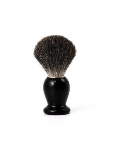 Shaving Brush / Ebony Wood / Grey