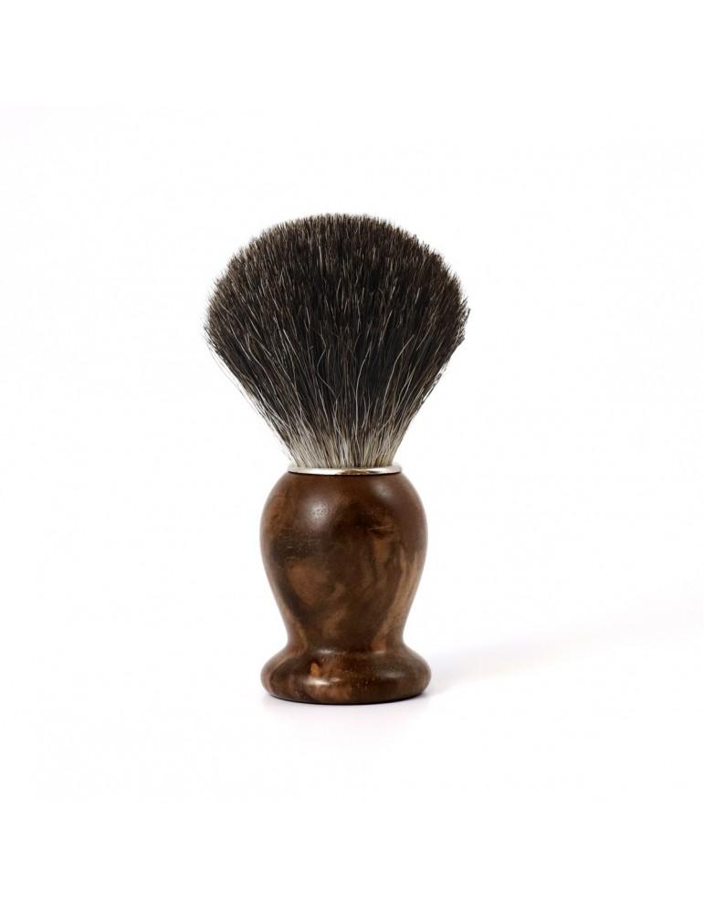 Shaving Brush / Burr Walnut / Grey