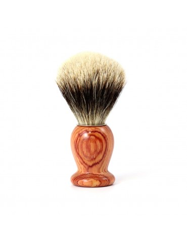 Shaving Brush / Pink Wood / White European