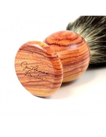Shaving Brush / Pink Wood / White European