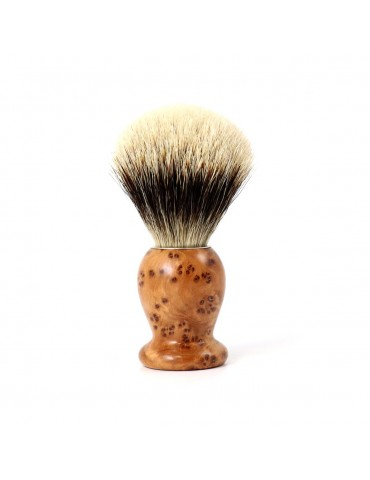 Shaving Brush / Thuja Wood / White European