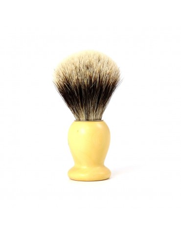 Shaving Brush / Boxwood / White European