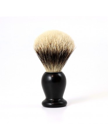 Shaving Brush / Ebony Wood / White European