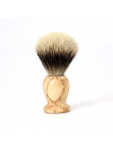 Shaving Brush / Birchwood / White European