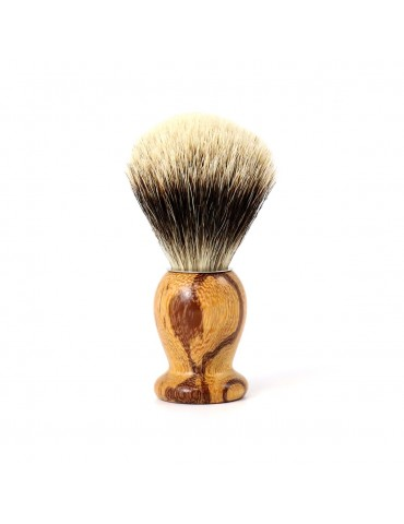 Shaving Brush / Snakewood / White European