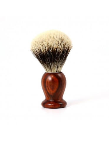 Shaving Brush / Cocobolo / White European