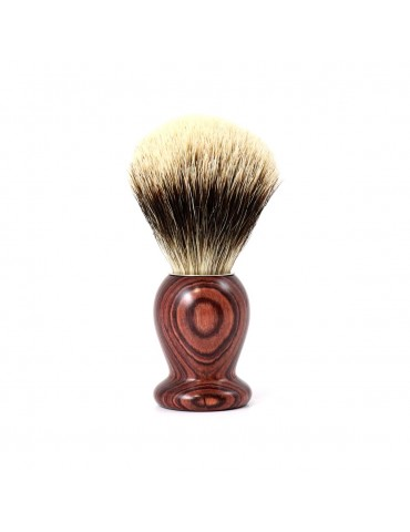 Shaving Brush / Purple Wood / White European