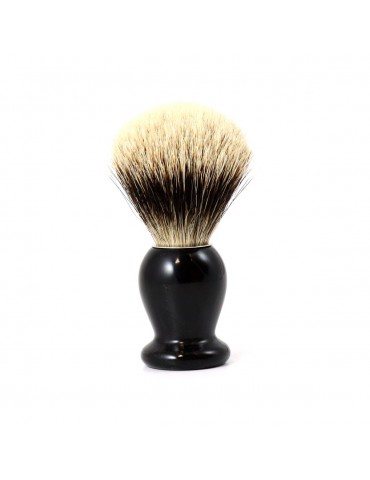 Shaving Brush / Black Horn / White European