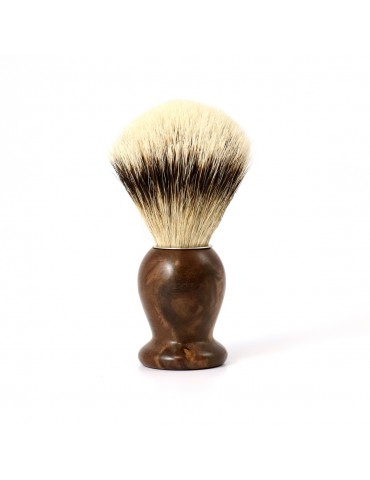 Shaving Brush / Burr Walnut / High Mountain