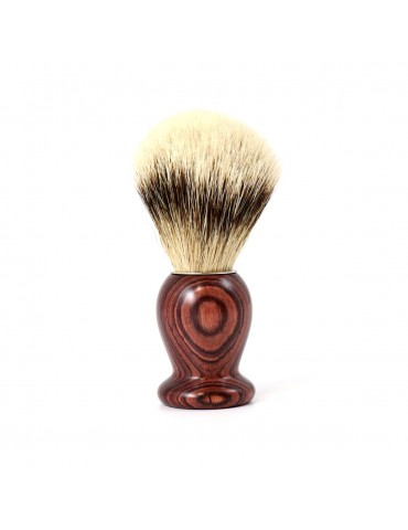 Shaving Brush / Purple Wood /  High Mountain