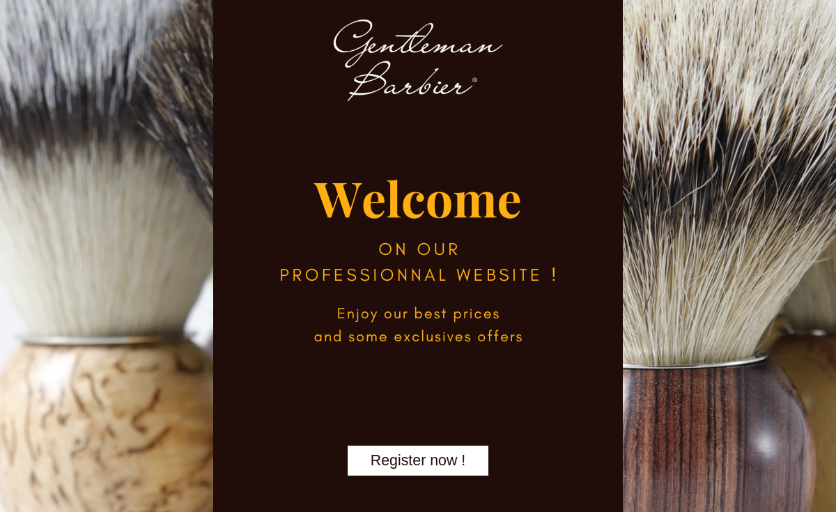 Gentleman Barbier welcome on our professionnal website